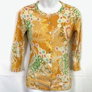 CHARLOTTE TARANTOLA Silk Blend Cardigan Sweater XS